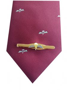 Parachute Regiment Tie & Parachute Qualification Wings Tie Clip Set q138 v4